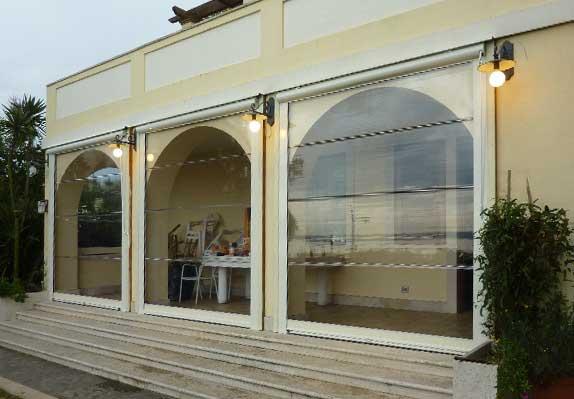 Tende Veranda Cristal : Chiusure in cristal balconi pergotende linearredo bracciano